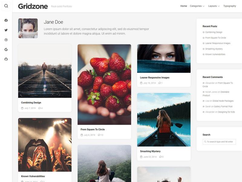 Gridzone theme